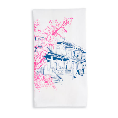 Baltimore Maryland | Abell Avenue Painted Ladies | tea towel