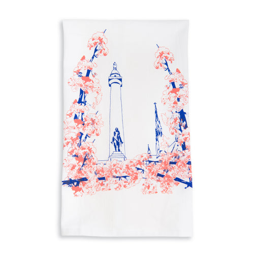Baltimore Maryland | Blooming Washington Monument | tea towel