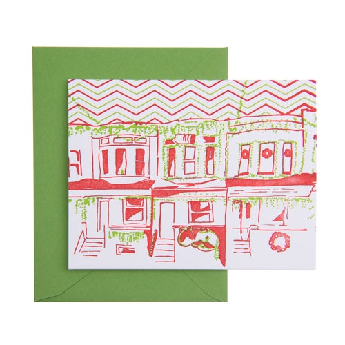 Baltimore Maryland | Miracle on 34th Street Holiday Card | Letterpress City Card