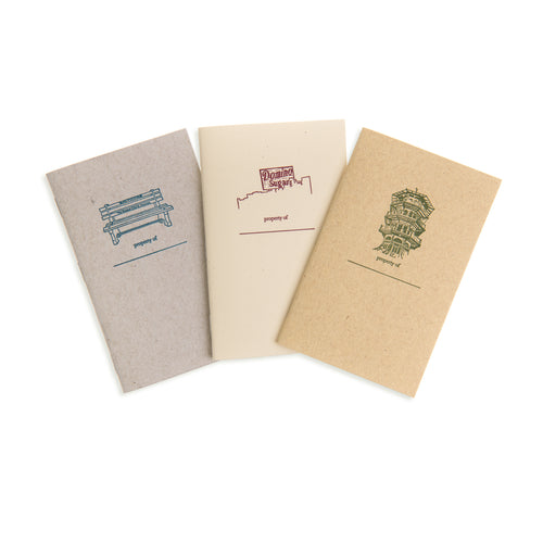 Baltimore Maryland | Baltimore Landmarks Letterpress Mini-Notebooks | set of 3