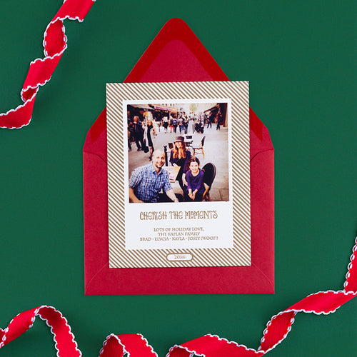 Letterpress Family Holiday Card  |  Letterpress Holiday Photo Card  |  Small