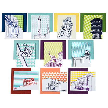 Baltimore Maryland | Baltimore Neighborhoods Pack of 10 Cards | Letterpress City Cards