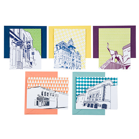 Baltimore Maryland | Baltimore Neighborhoods Pack of 5 Cards | Letterpress City Cards
