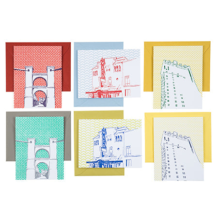 Waco Texas | Waco Landmarks Pack of 6 Cards | Letterpress City Cards