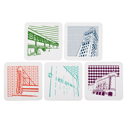 Baltimore Maryland | Local Love | Letterpress Coasters Package of 5