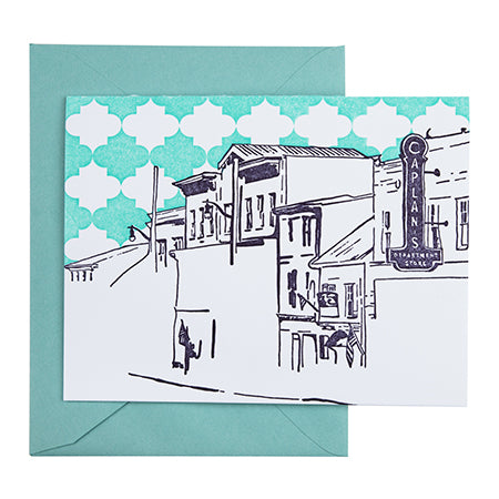 Ellicott City Maryland | Main Street | Letterpress City Card