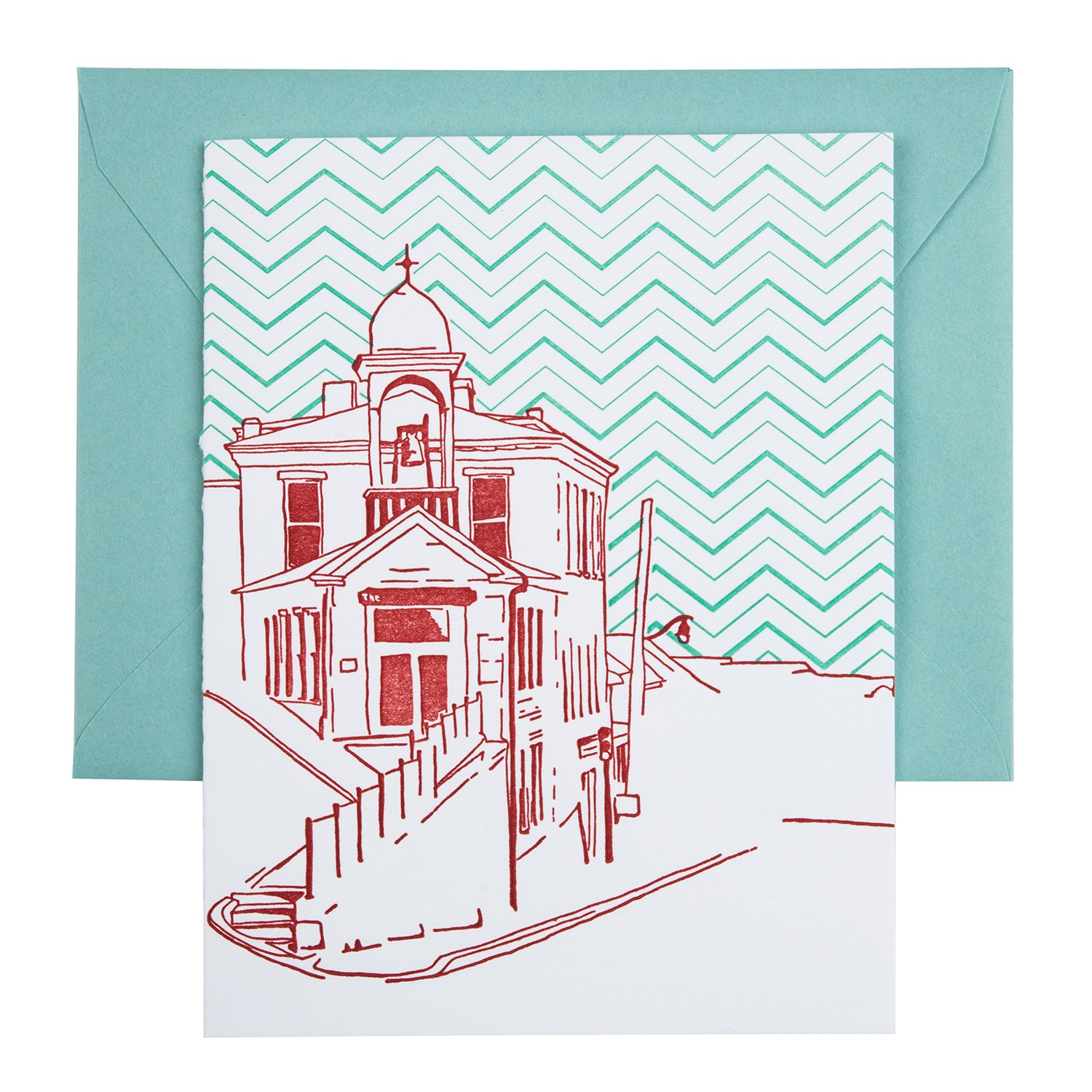 Ellicott City Maryland | Fire House Museum | Letterpress City Card
