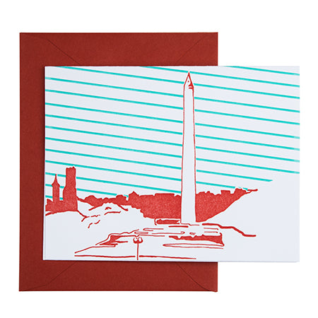 Washington D.C. | Washington Monument | Letterpress City Card