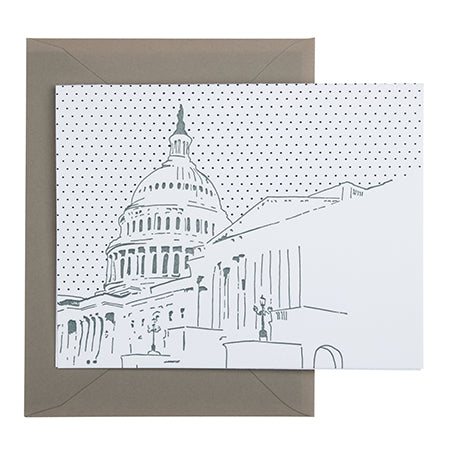 Washington D.C. | U.S. Capitol Building | Letterpress City Card