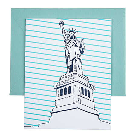 New York City | Statue of Liberty | Letterpress City Card