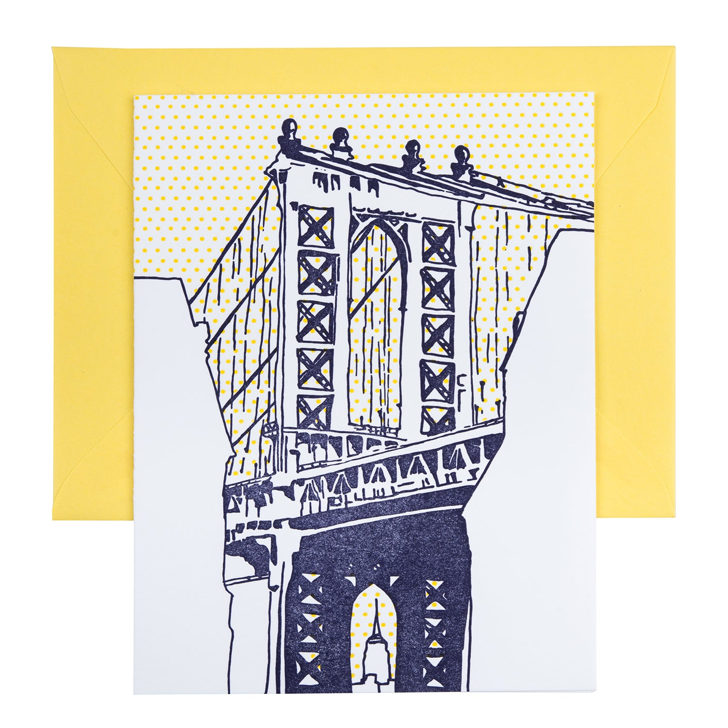 Brooklyn New York | Manhattan Bridge Dumbo | Letterpess City Card