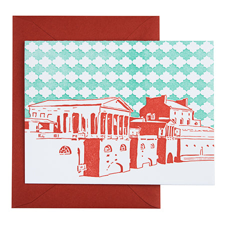 Philadelphia Pennsylvania | Fairmount Water Works |  Letterpress City Card