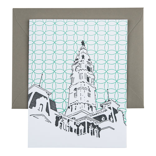 Philadelphia Pennsylvania | Philadelphia City Hall |  Letterpress City Card
