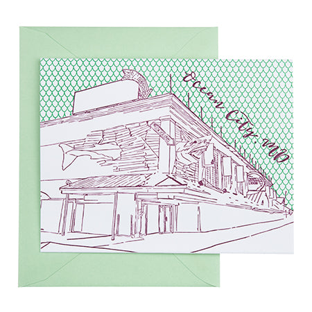 Ocean City Maryland | Boardwalk |  Letterpress City Card