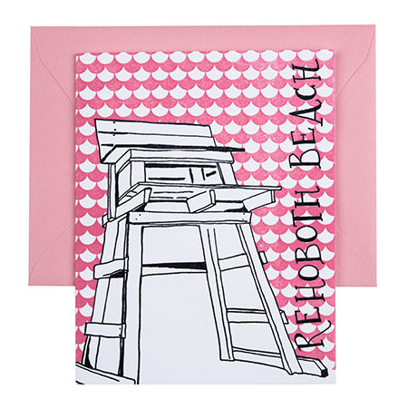 Rehoboth Beach Delaware | Lifeguard Stand | Letterpress City Card