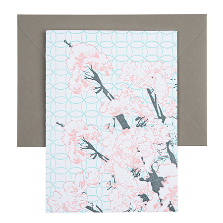 Cherry Blossom | Letterpress Floral Card