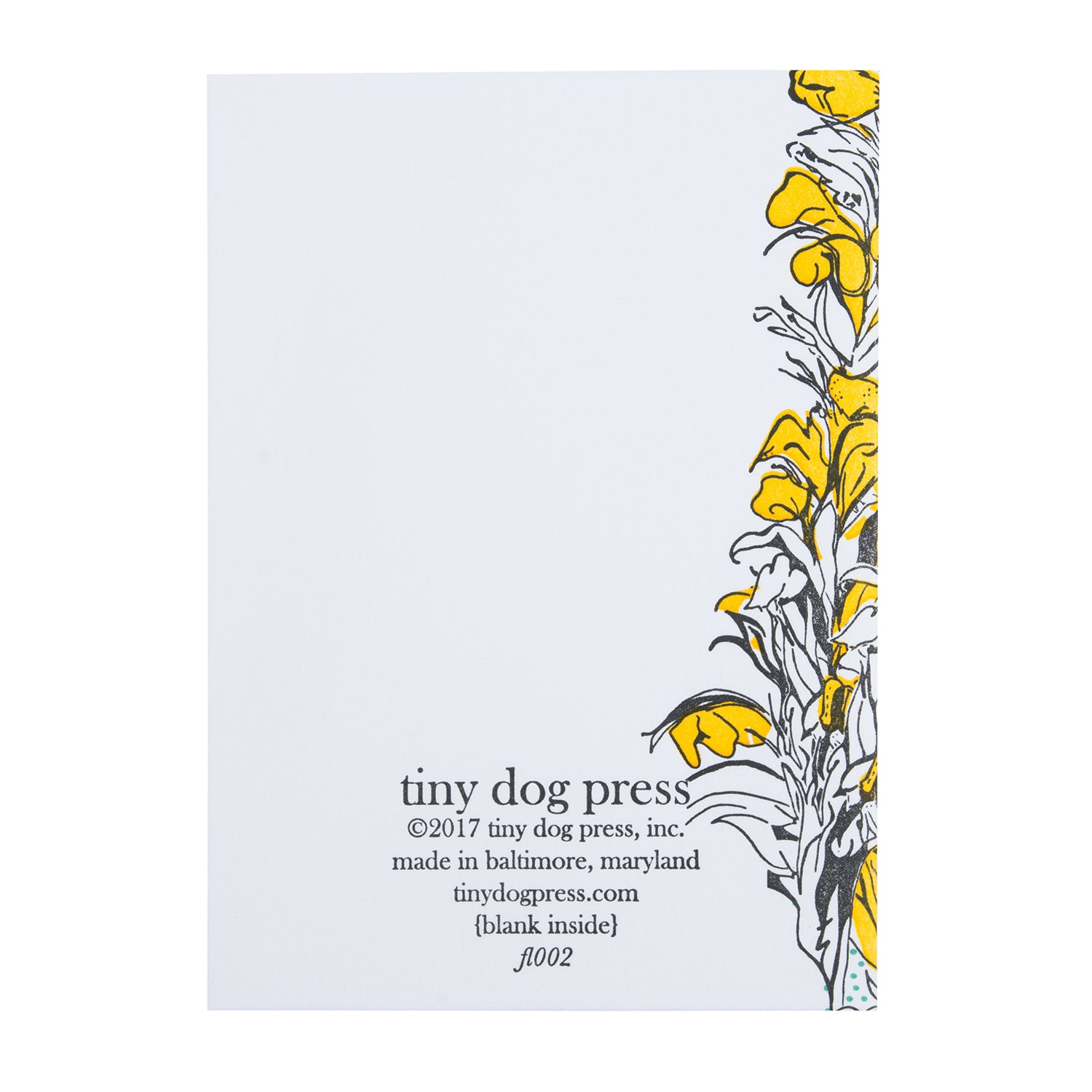 Thorn Flower | Letterpress Floral Card