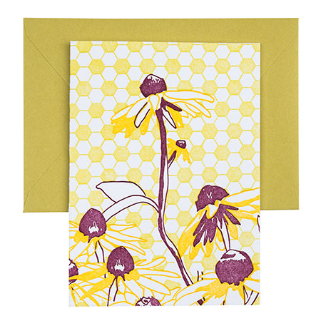 Black Eye Susan | Letterpress Floral Card