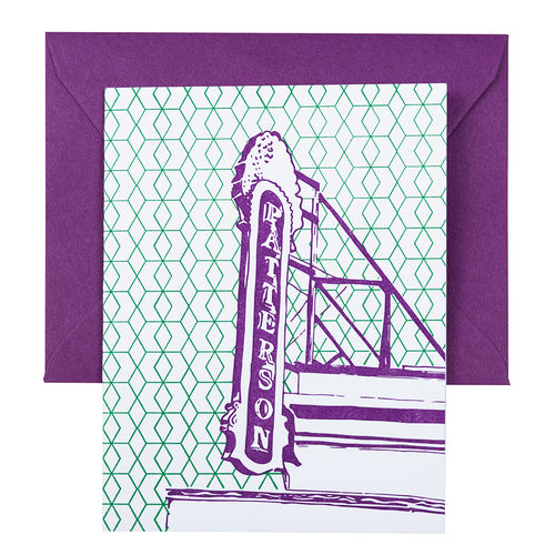 Baltimore Maryland | Creative Alliance | Letterpress City Card