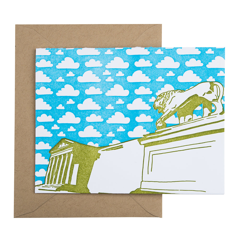 Baltimore Maryland | Baltimore Museum of Art | Letterpress City Card