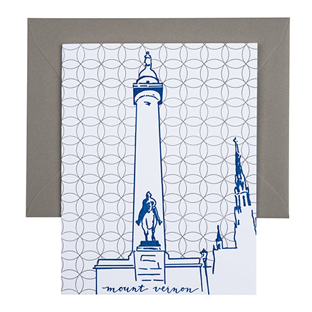 Baltimore Maryland | Washington Monument | Letterpess City Card
