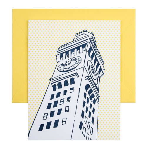 Baltimore Maryland | Bromo Seltzer Tower | Letterpress City Card