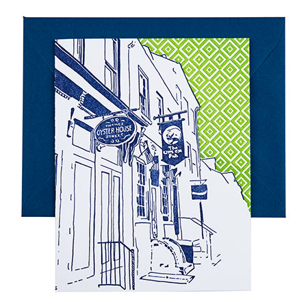 Baltimore Maryland | Thames Street Fells Point | Letterpress City Card