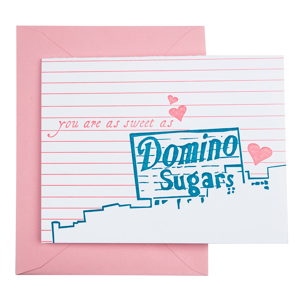 Baltimore Maryland | Baltimore Valentine's Day Letterpress Card | Domino Sugars sign | Letterpress City Card