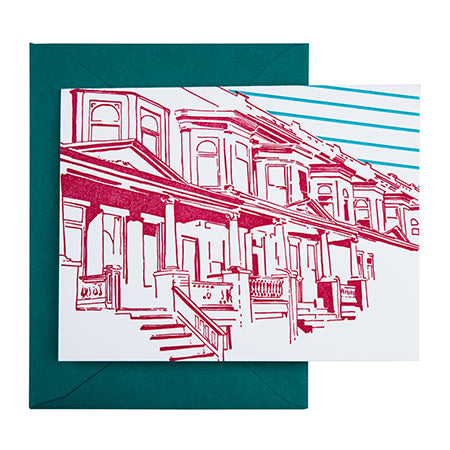 Baltimore Maryland | Painted Ladies | Letterpress City Card