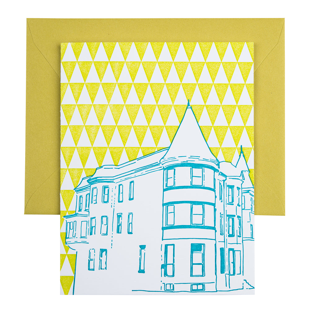 Baltimore Maryland | Brownstone | Letterpress City Card