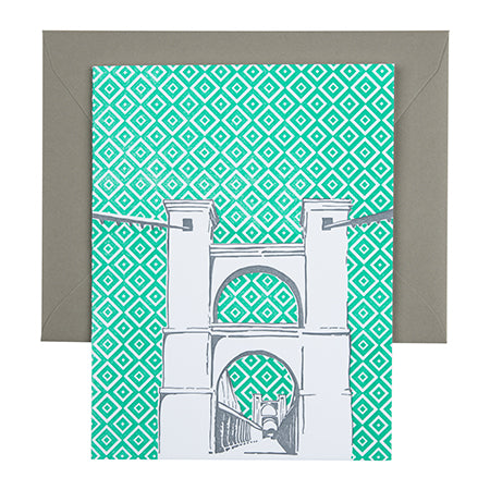 Waco Texas | Suspension Bridge |  Letterpress City Card