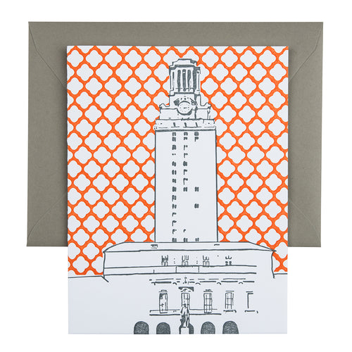 Austin Texas | University of Texas Tower | Letterpress City Card
