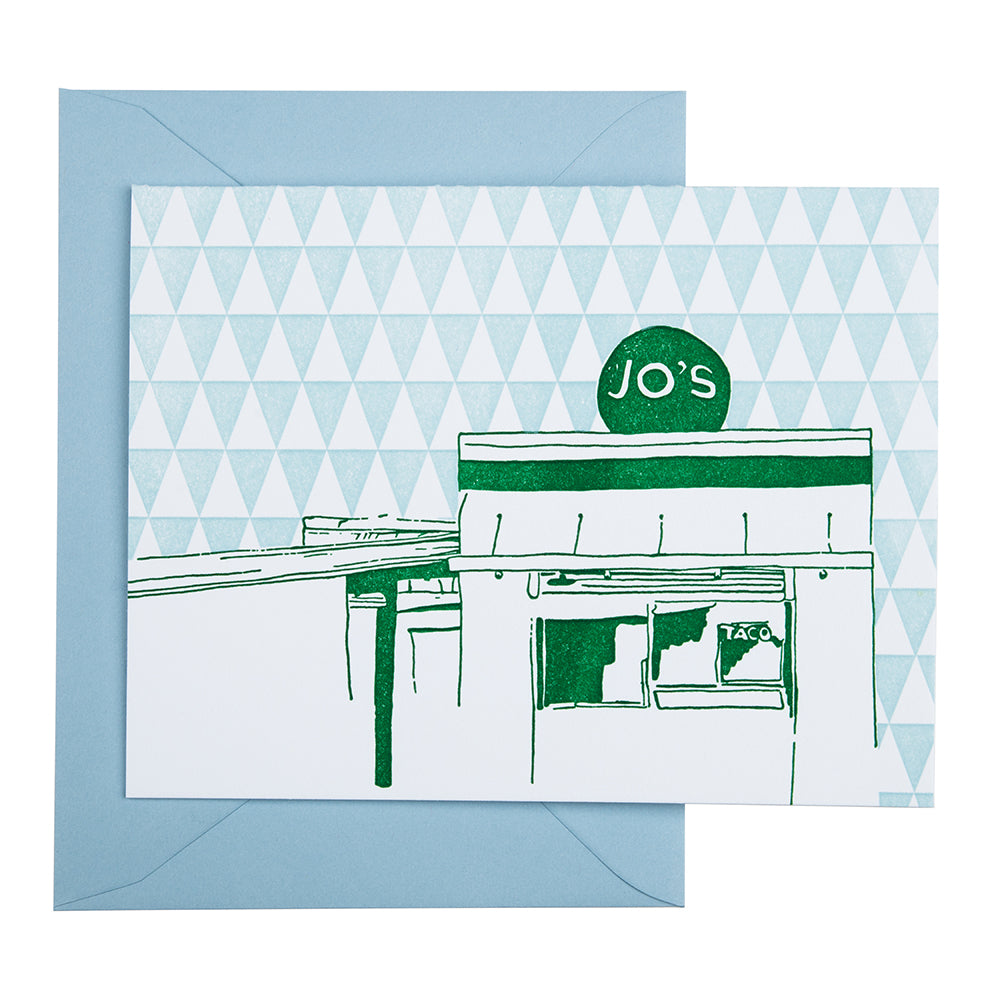 Austin Texas | Jo's Coffee | Letterpress City Card