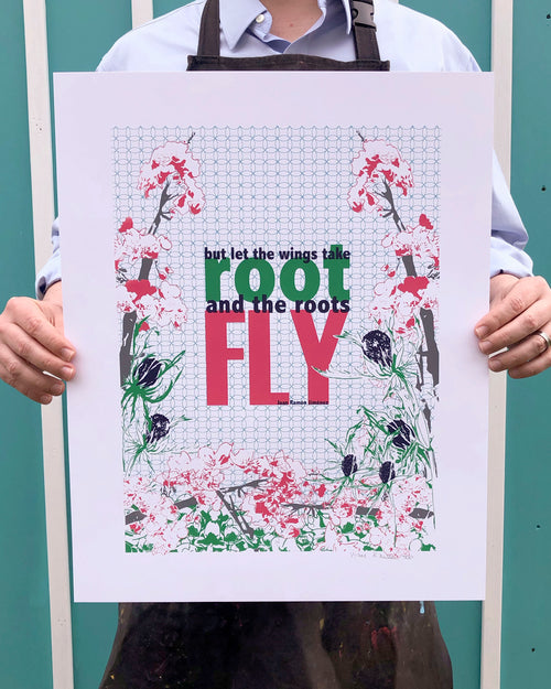 "Wings & Roots | Limited Edition Silk Screen 16"" x 20"" poster"