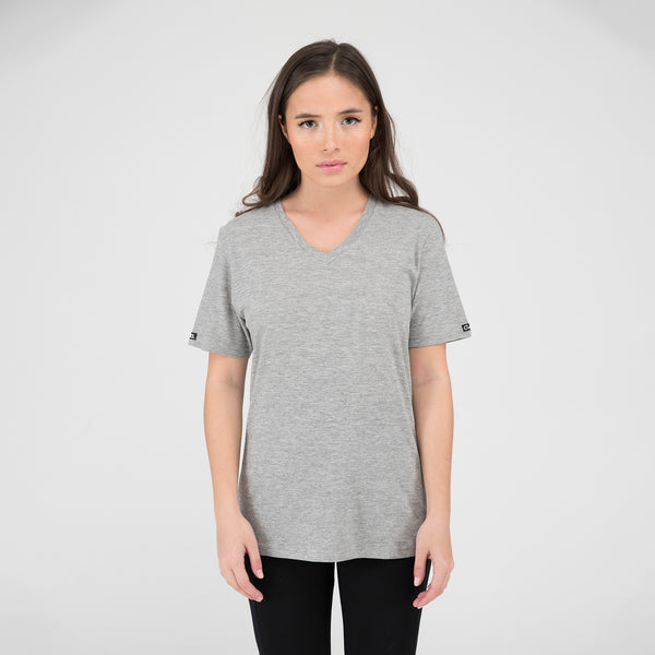 Ladies Essential V-Neck Tee - Grey