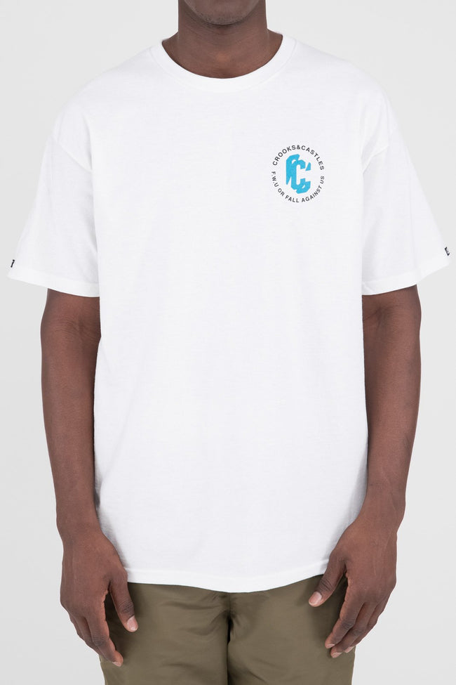 Mens C Distortion Tee (White)
