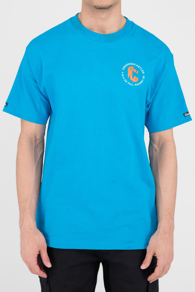 Mens C Distortion Tee (Teal)