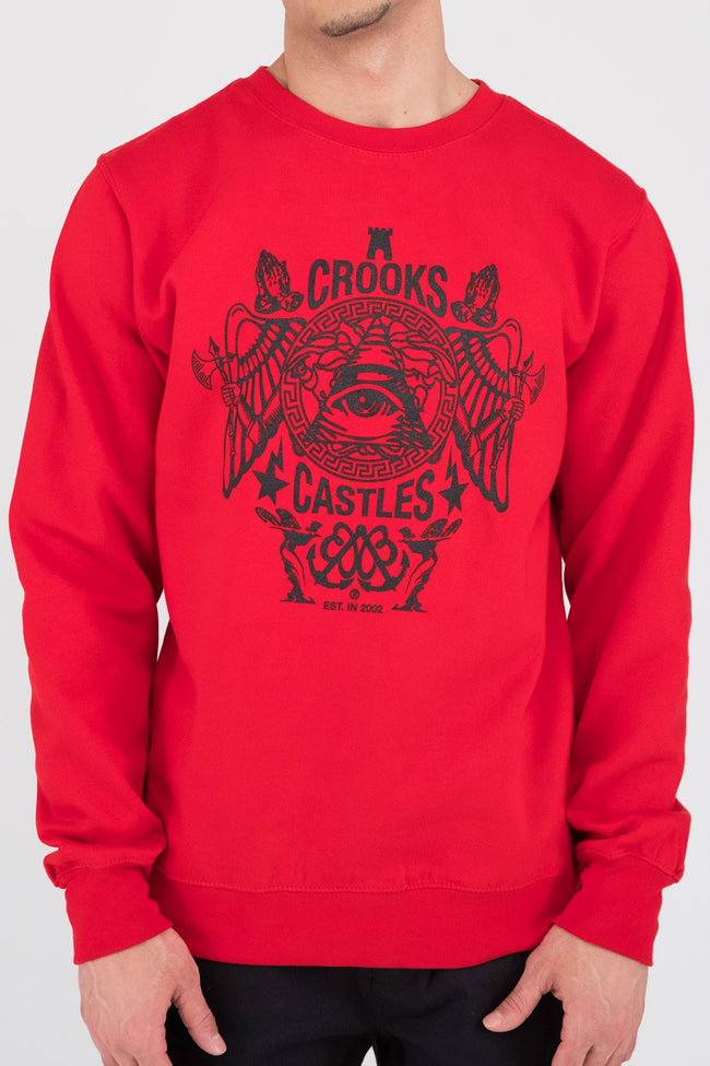 Mens Secret Society Crew (Red)