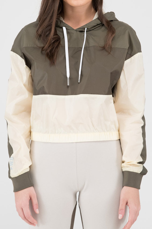Ladies Tech Core Cropped Hoodie (Olive)