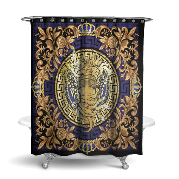 Ornament Medusa Shower Curtain