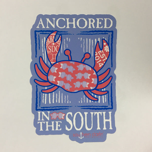 Anchored In The South Sticker - Southern Darlin'