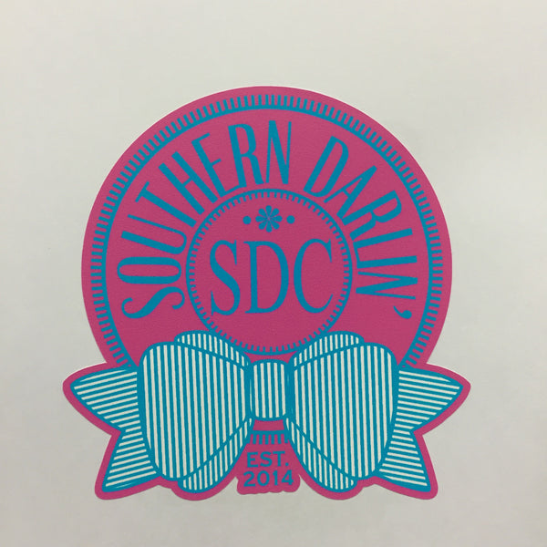 Roundbow Sticker - Southern Darlin'