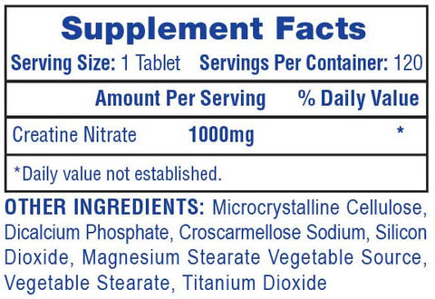 Hi-Tech Creatine Nitrate supplement facts