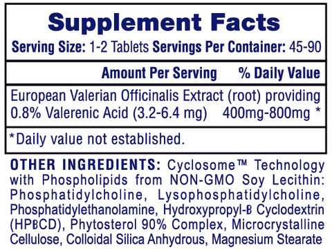 Valerian-RX™ Supplement Facts
