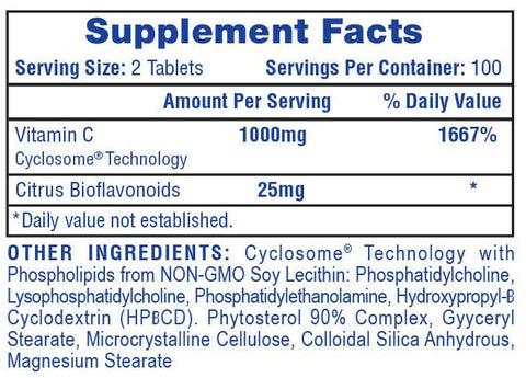 Hi-Tech Pharma Vitamin C Supplement Facts