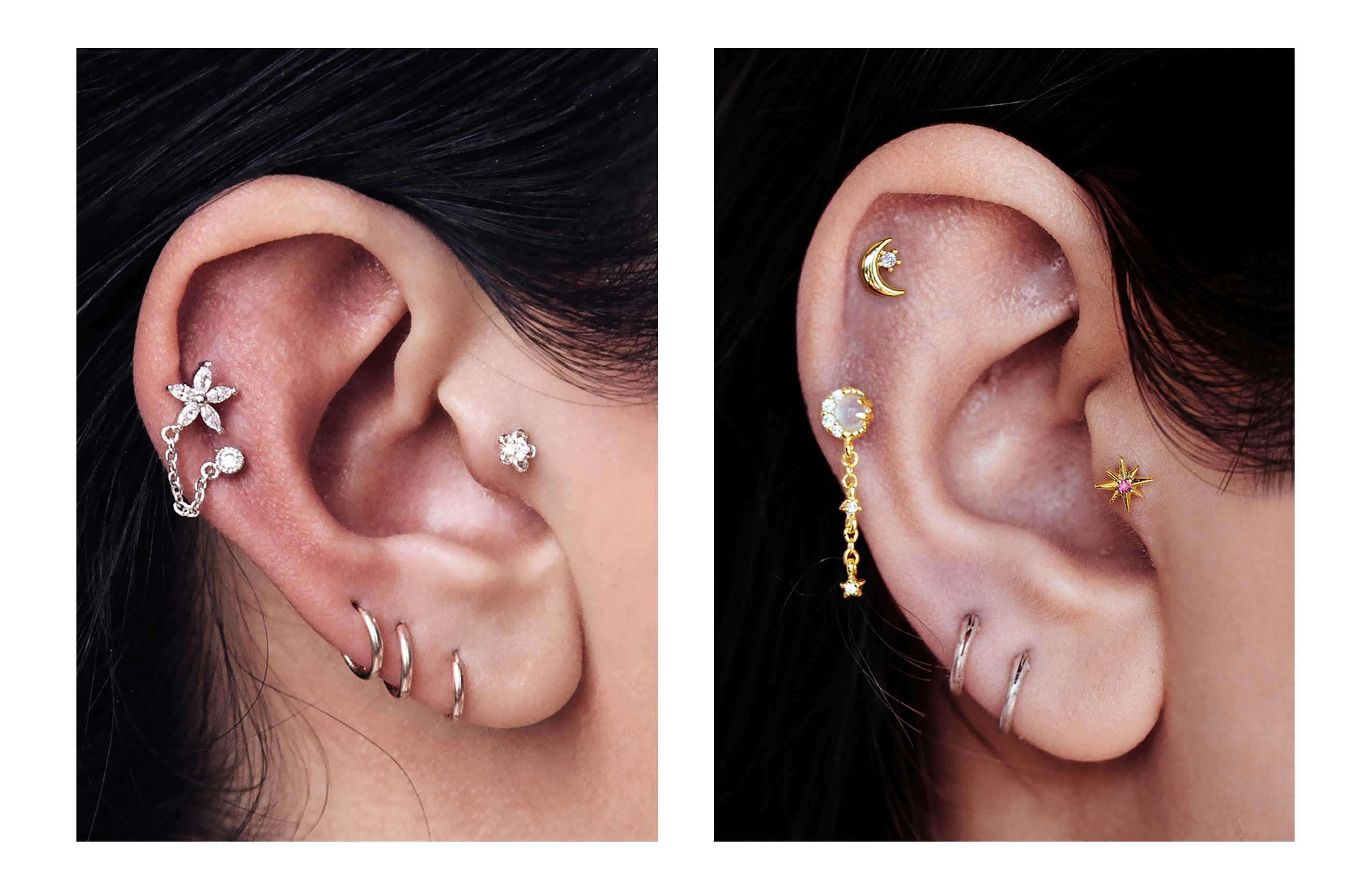 Helix Piercing Inspirations