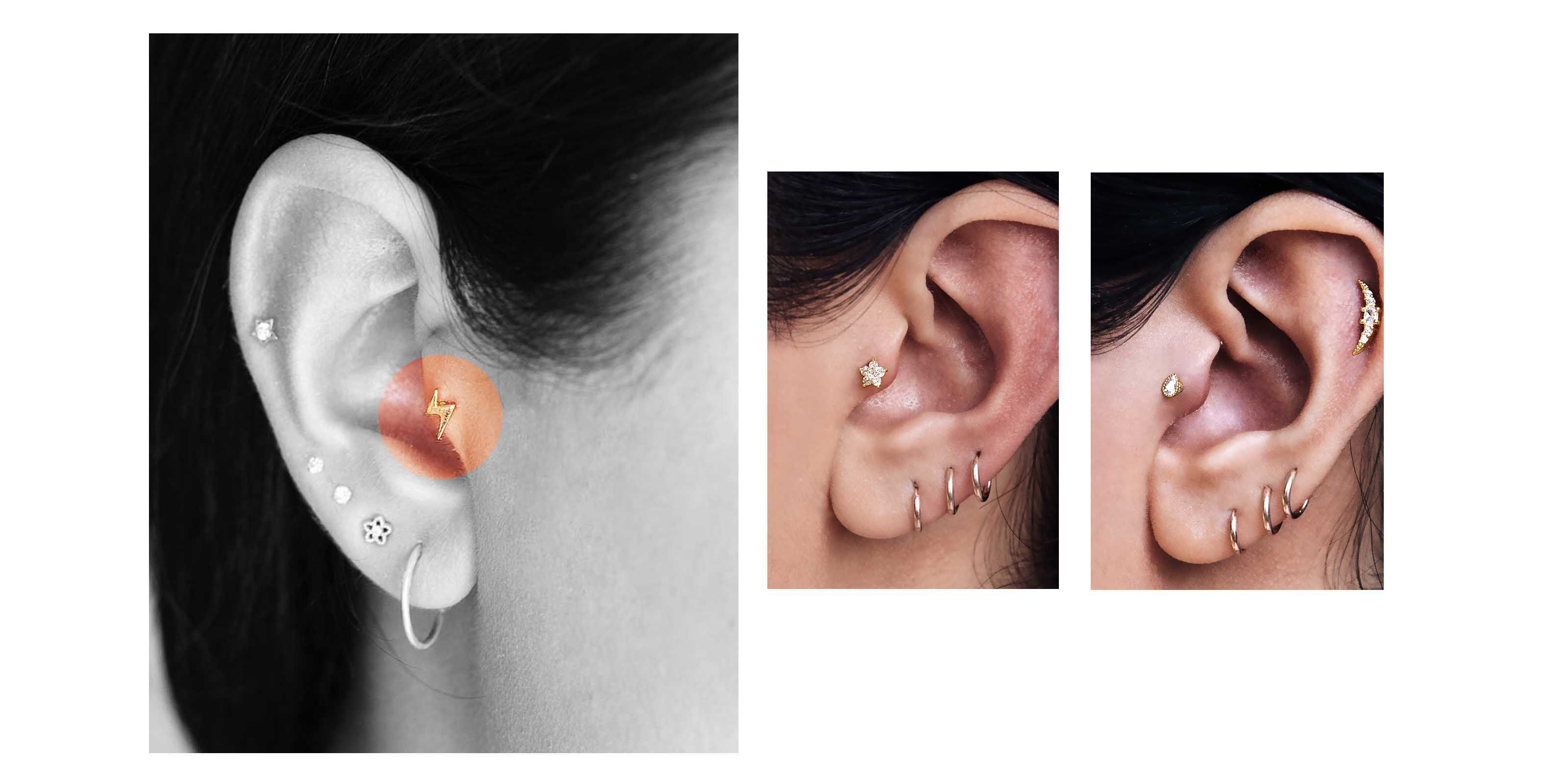 tragus and cartilage piercings
