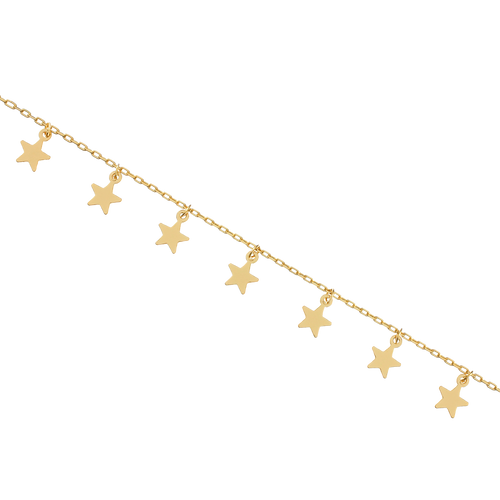 Eternity Star Anklet - gold