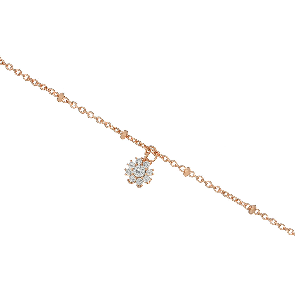 Sugar Gemstone Anklet - rose gold