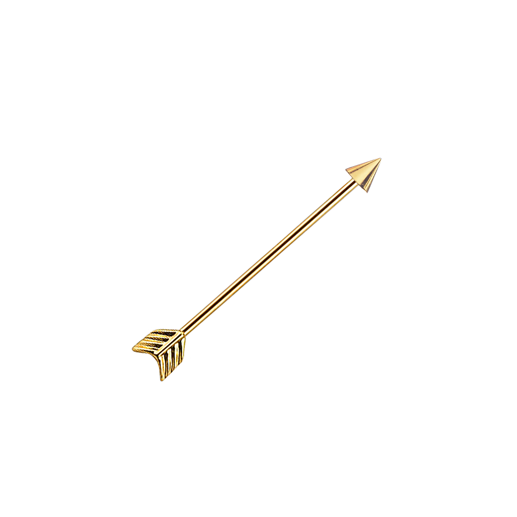Arrow industrial Piercing - gold
